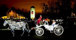 christmas horse and buggy